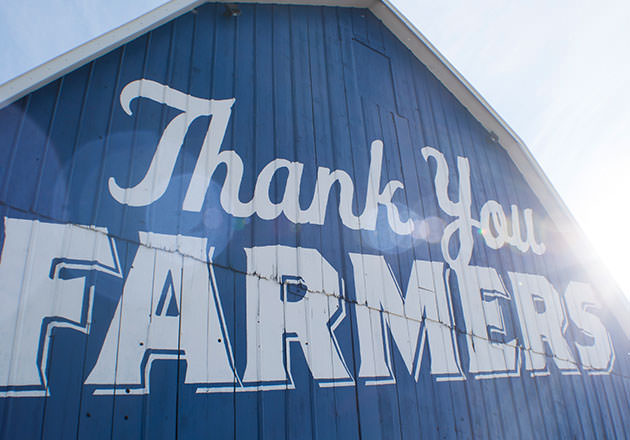 Thank You Farmers Project Blue Barns